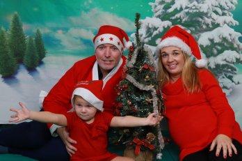 Vánoční rodinné fotografie